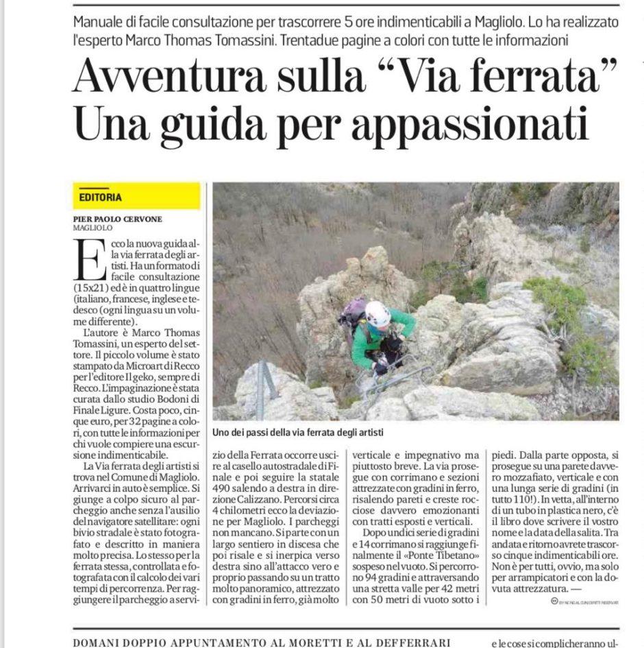 """(Italiano) Parlano della nuova guida! Avventura sulla """"Via Ferrata"""" guida per appassionati"""